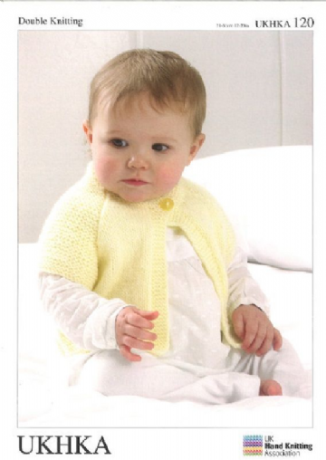 DK Baby Knitting Pattern - Cardigans and Hat UKHKA 120